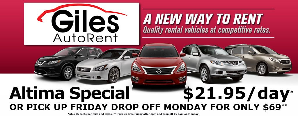 Car Rental Lafayette Giles Autorent Rent A Nissan